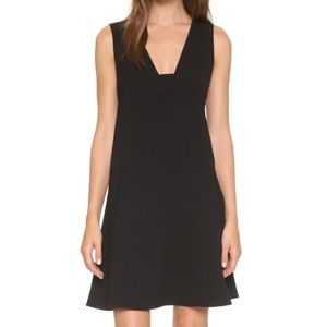 T by Alexander Wang Plunge Crepe Dress in Black